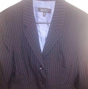 Kasper Striped Suit Jacket